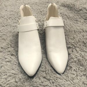White booties size 7.5